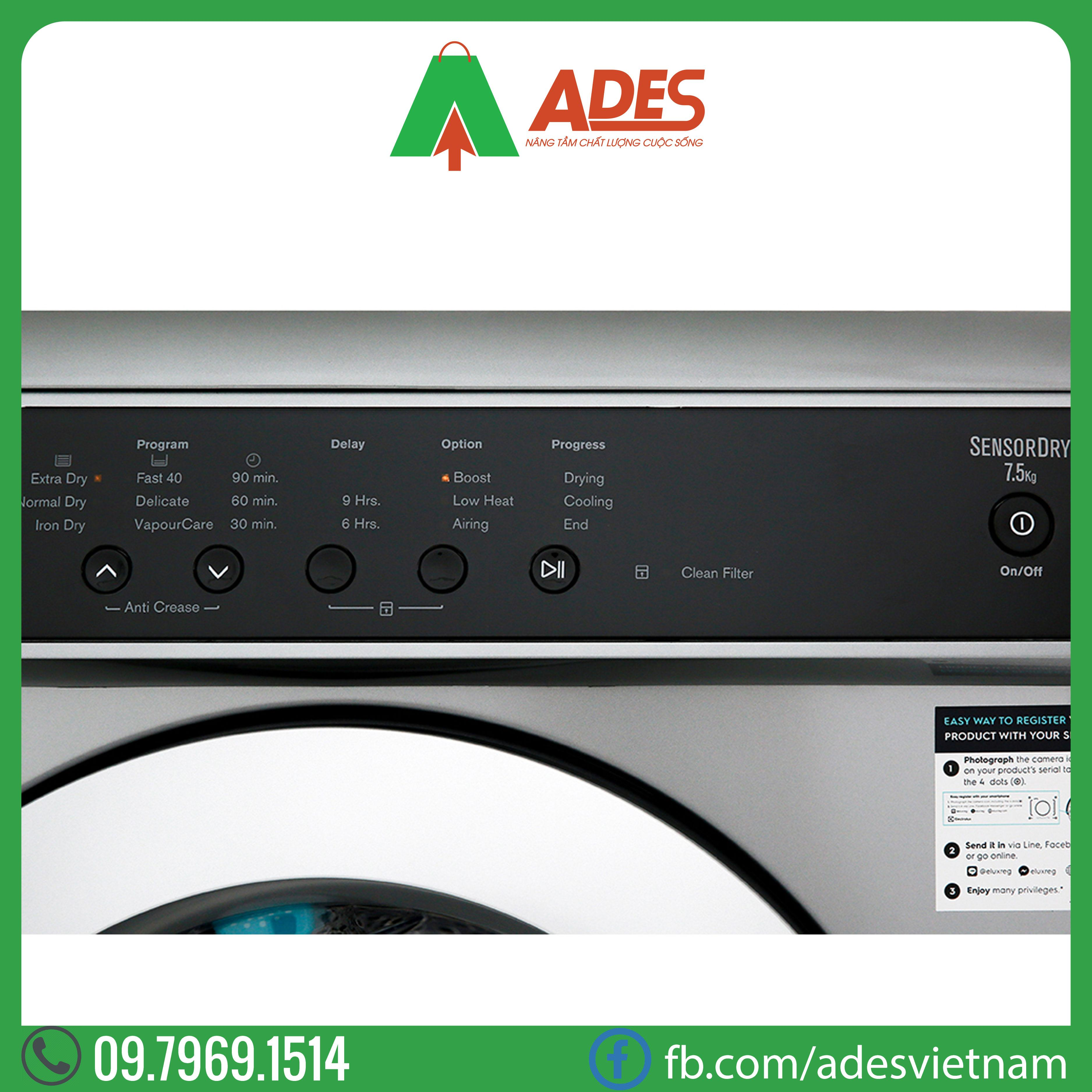 May say Electrolux 7.5 kg EDS7552S
