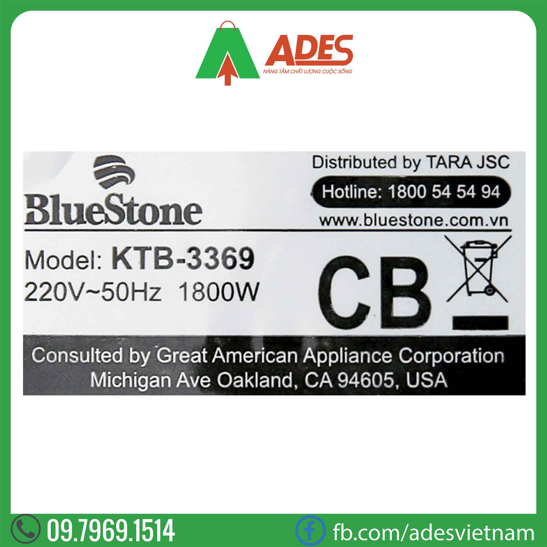 Am sieu toc Bluestone KTB-3369
