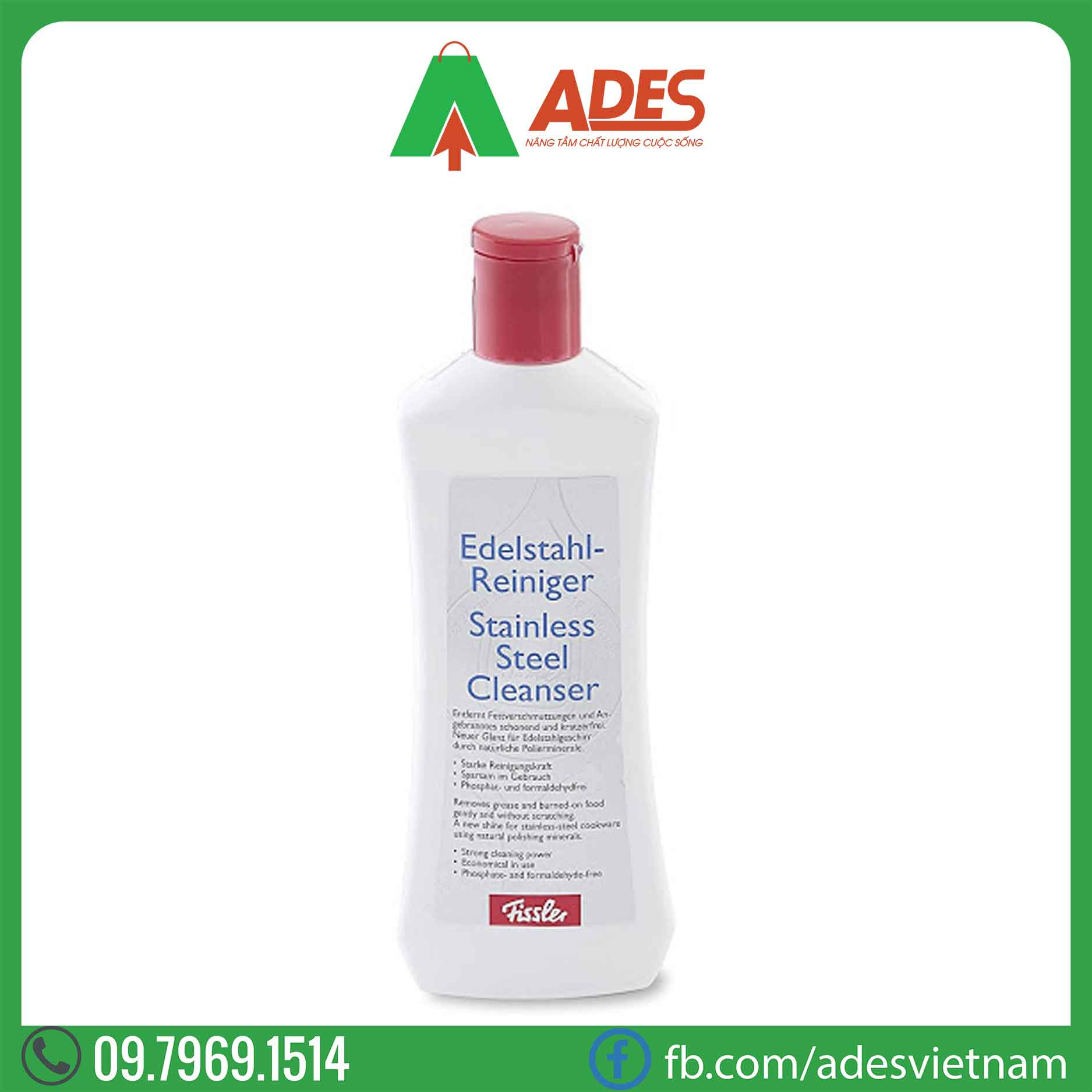 dung dich tay o FisslerStainless Steel Cleanser
