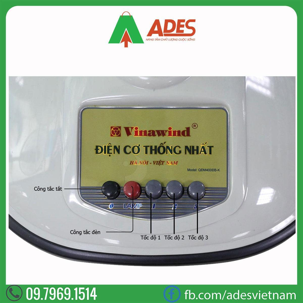 Quat dung mini Vinawind QDM 400 DB-K Dien may ADES