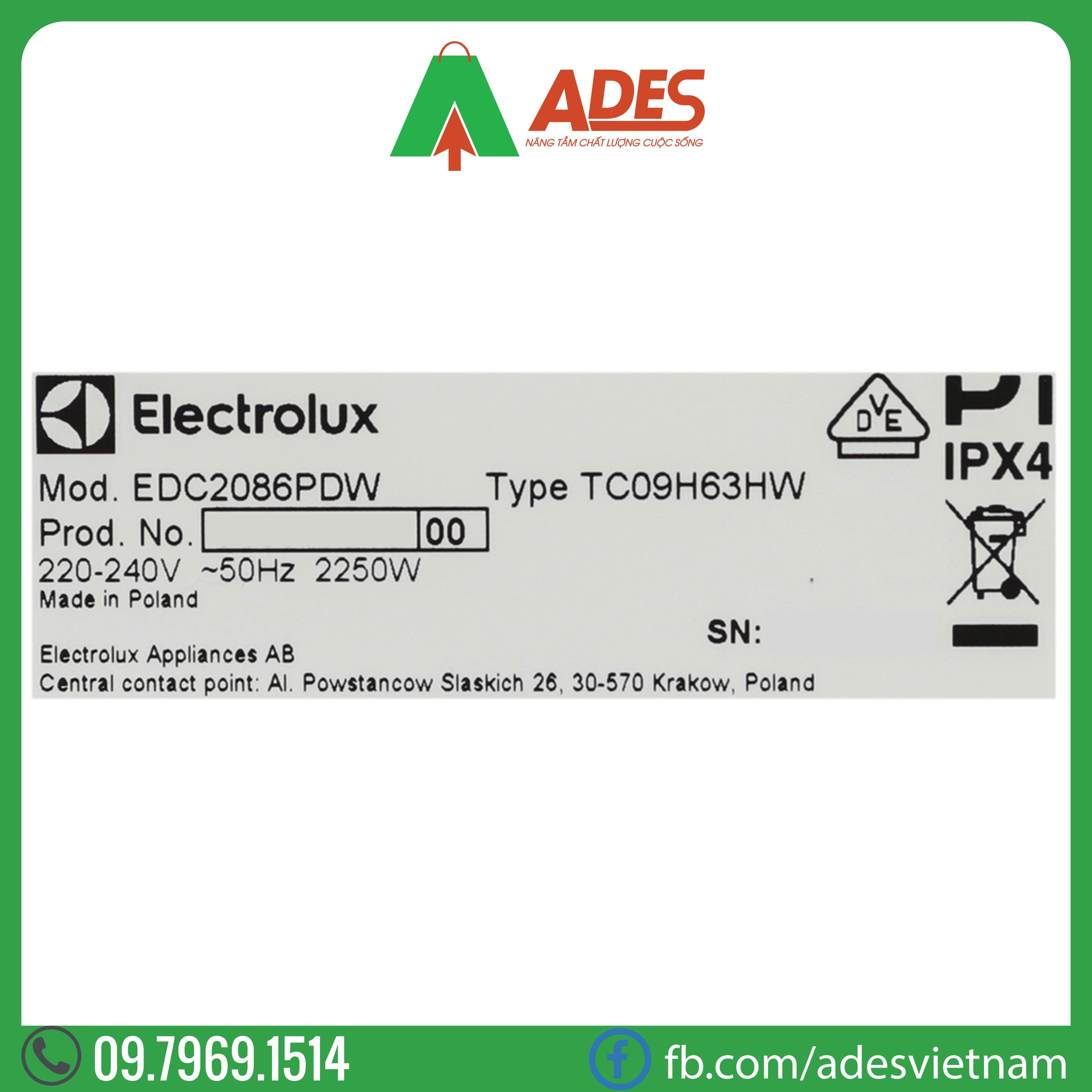 May say quan ao Electrolux EDC2086PDW