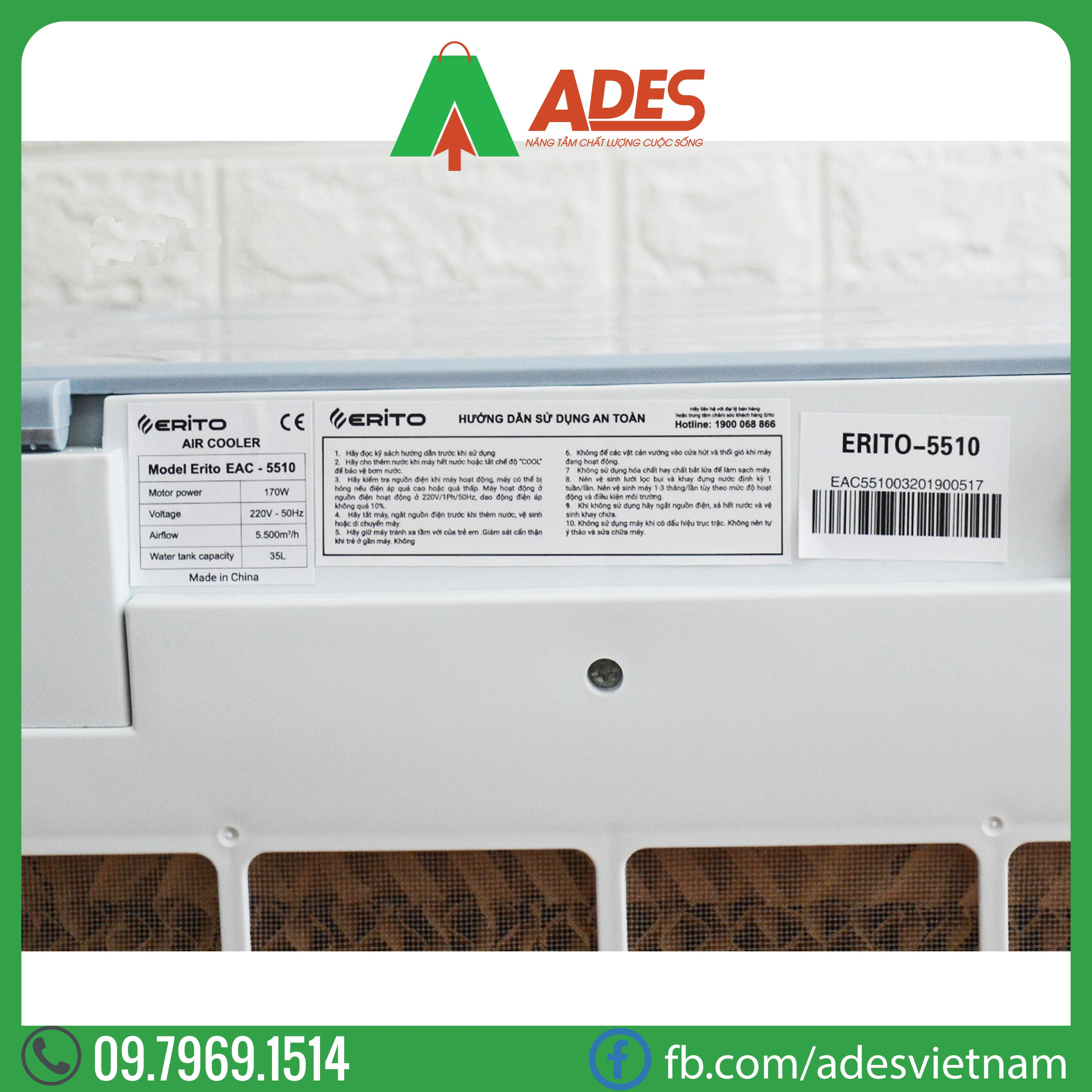 Quat dieu hoa EritoEAC-5510 (35 lit)