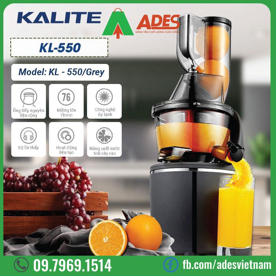May ep trai cay Kalite KL-550