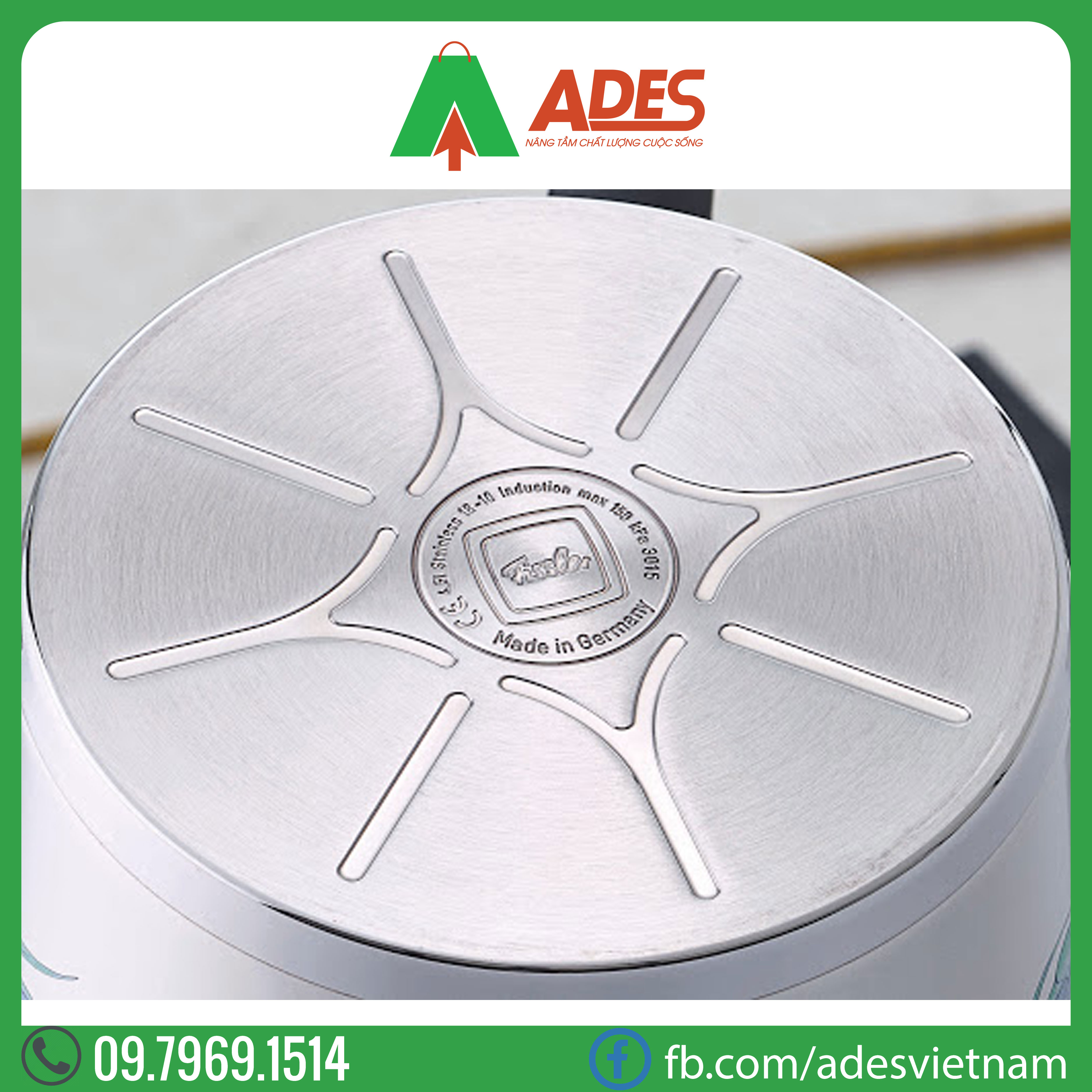 Quanh inox cao cap Fissler Pro 16cm | Dien may Ades