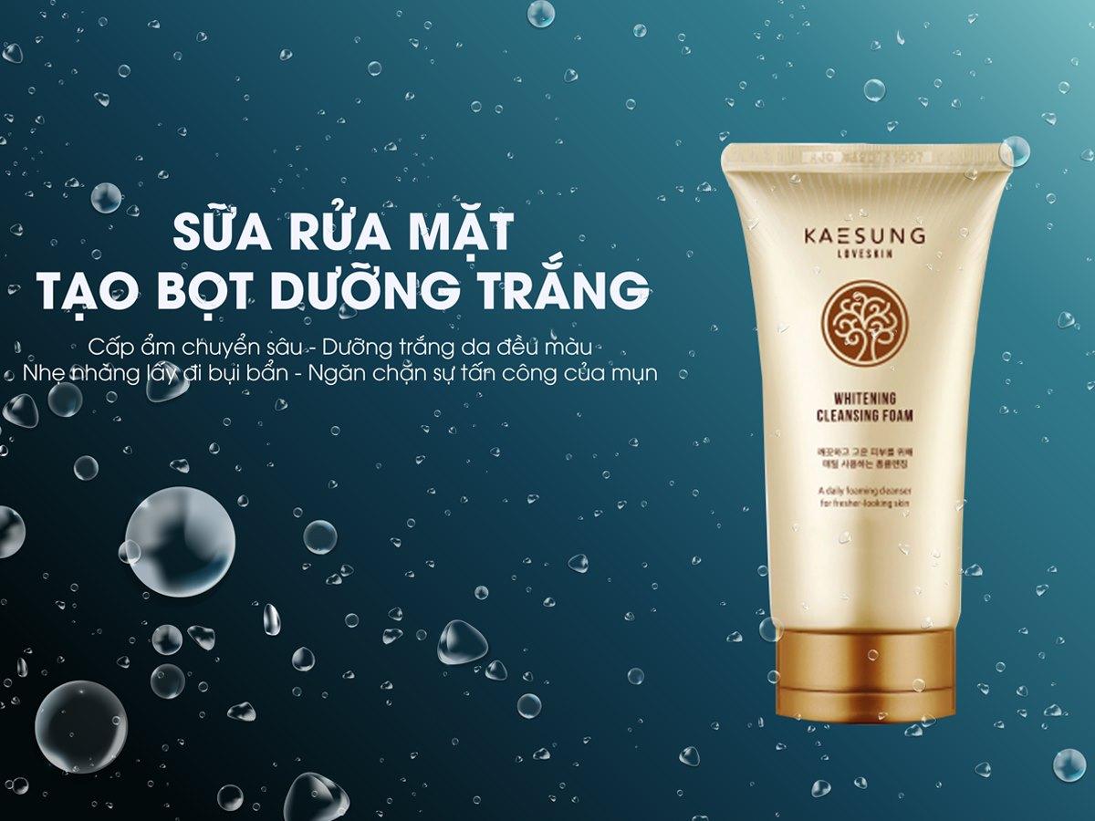 Sửa rửa mặt tạo bọt dưỡng trắng Kaesung