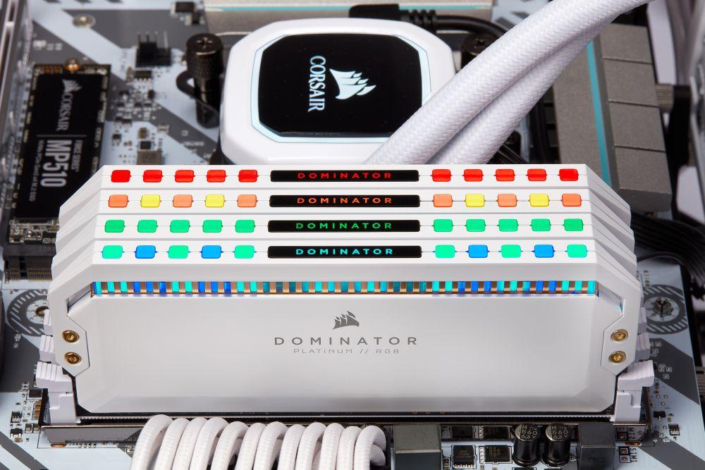 Ram PC Corsair Dominator Platinum White RGB 32GB 3200Mhz DDR4 (2x16GB)  CMT32GX4M2C3200C16W   Memoryzone - Professional in memory