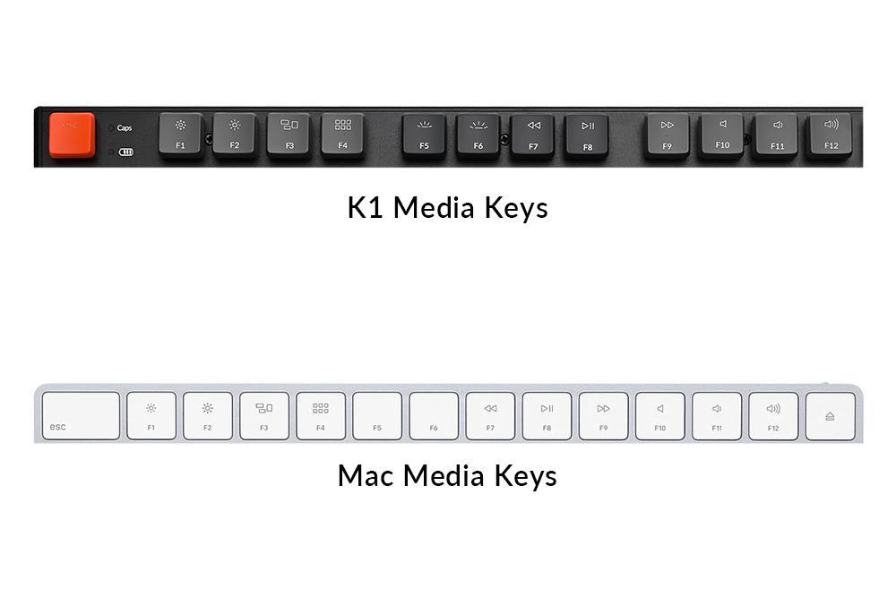Bàn phím cơ KeyChron K1v4 TKL White led không dây Gateron Switch Low Profile Red / Blue / Brown 11