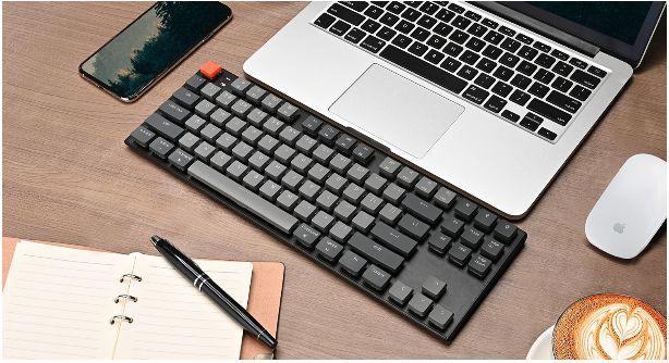 Bàn phím cơ KeyChron K1v4 TKL White led không dây Gateron Switch Low Profile Red / Blue / Brown 8