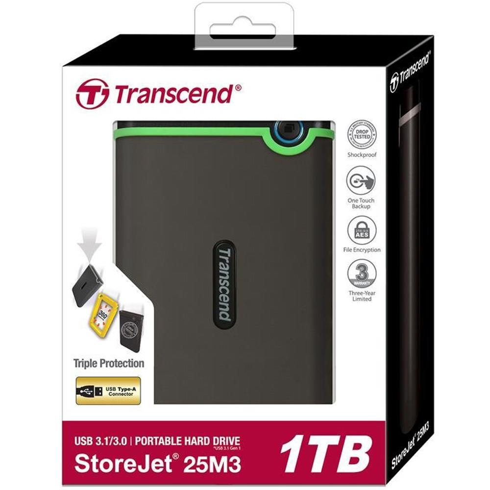 Ổ cứng di động Transcend StoreJet Slim 25M3S 1TB TS1TSJ25M3S