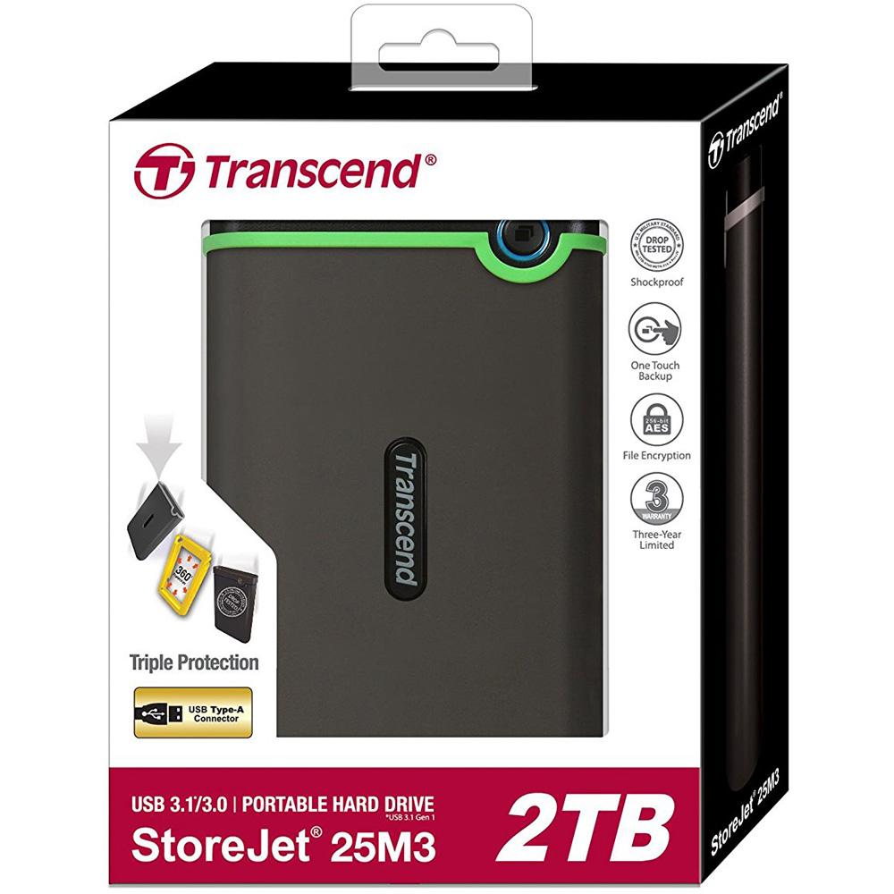 Ổ cứng di động Transcend StoreJet Slim 25M3S 2TB TS2TSJ25M3S