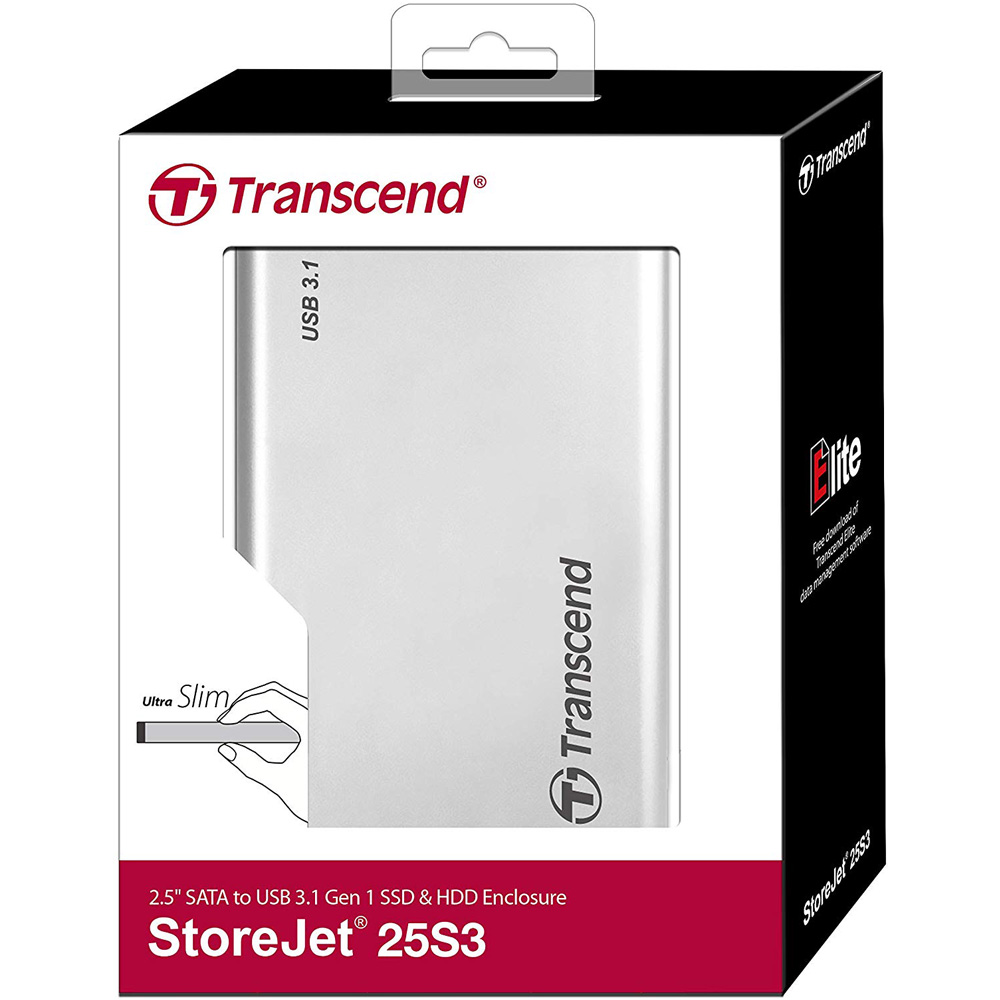 Box Transcend 2.5 inch USB 3.0 StoreJet 25S3 TS0GSJ25S3
