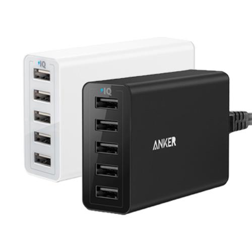 Sạc Anker® 40W 5-Port High Speed Desktop USB Charger with PowerIQ Technology