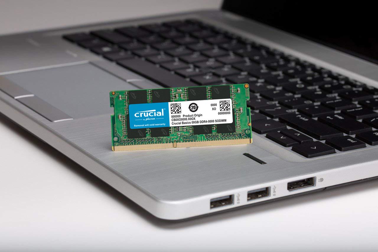Ram Laptop Crucial Basics DDR4 8GB Bus 2400MHz CL17 1.2v CB8GS2400