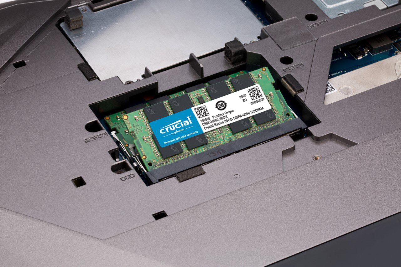 Ram Laptop Crucial DDR4 8GB Bus 3200MHz CL22 1.2v CT8G4SFS832A