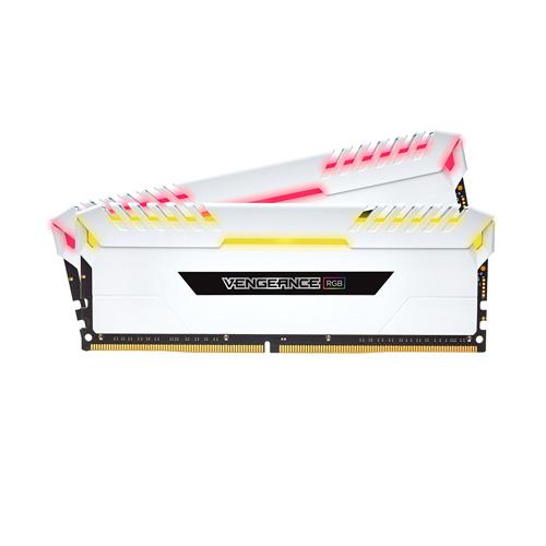 Ram PC Corsair Vengeance  RGB 16GB (2 x 8GB) DDR4 DRAM 3000MHz C15 Memory Kit White (CMR16GX4M2C3000C15W)