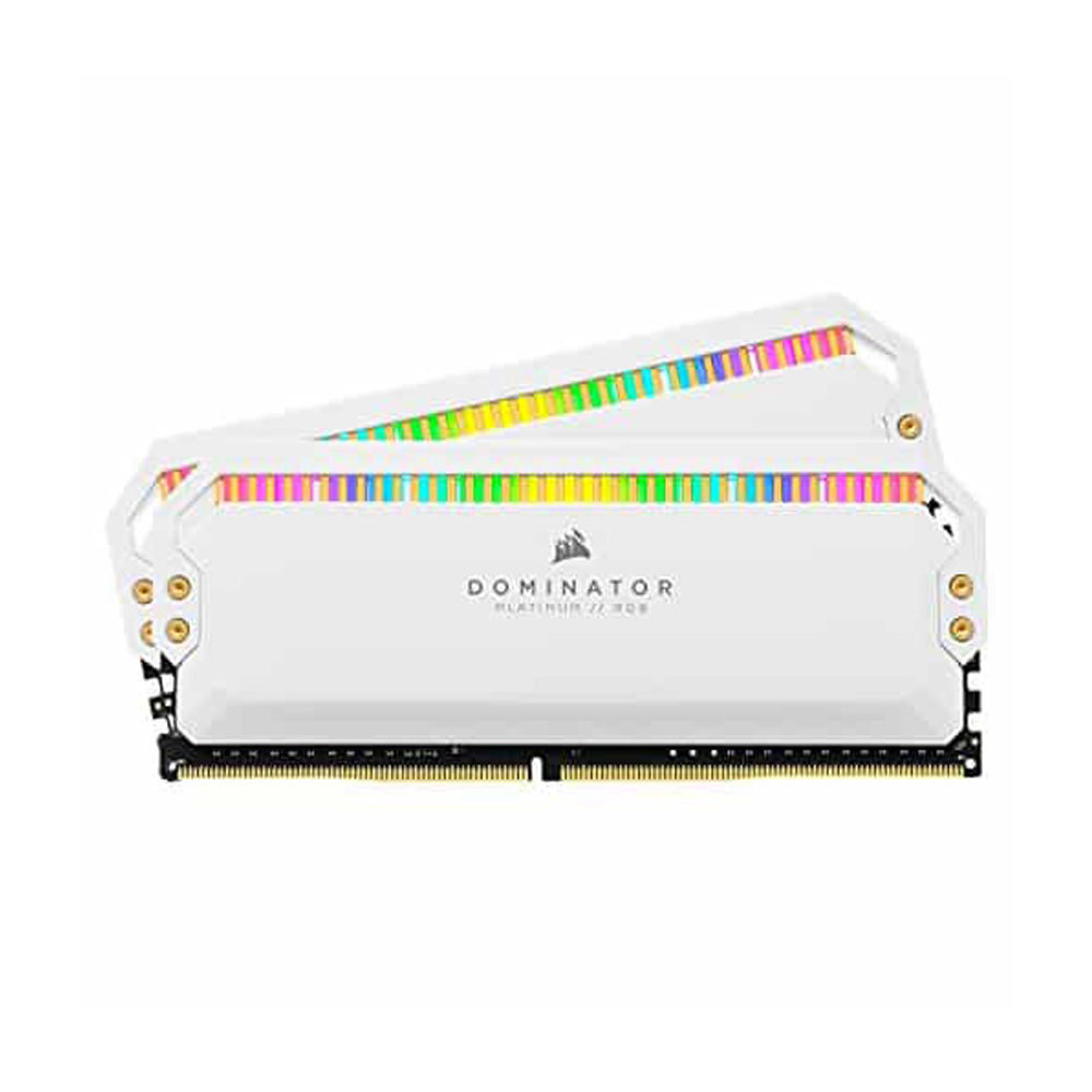 Ram PC Corsair Dominator Platinum White RGB 32GB 3200Mhz DDR4 (2x16GB) CMT32GX4M2C3200C16W
