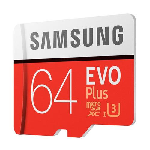Combo Thẻ Nhớ MicroSDXC Samsung EVO Plus U3 64GB 100MB/s MB-MC64G