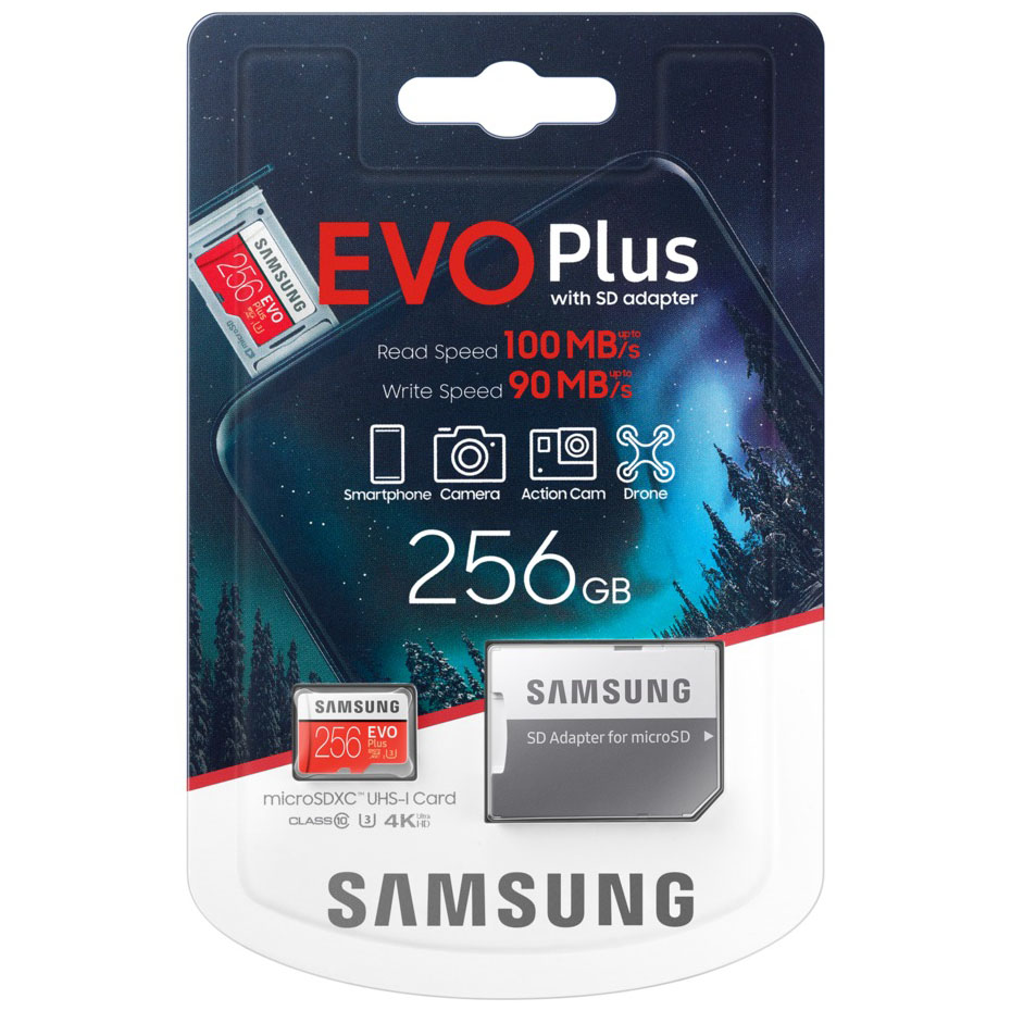 Thẻ Nhớ MicroSDXC Samsung EVO Plus U3 256GB 100MB/s MB-MC256H
