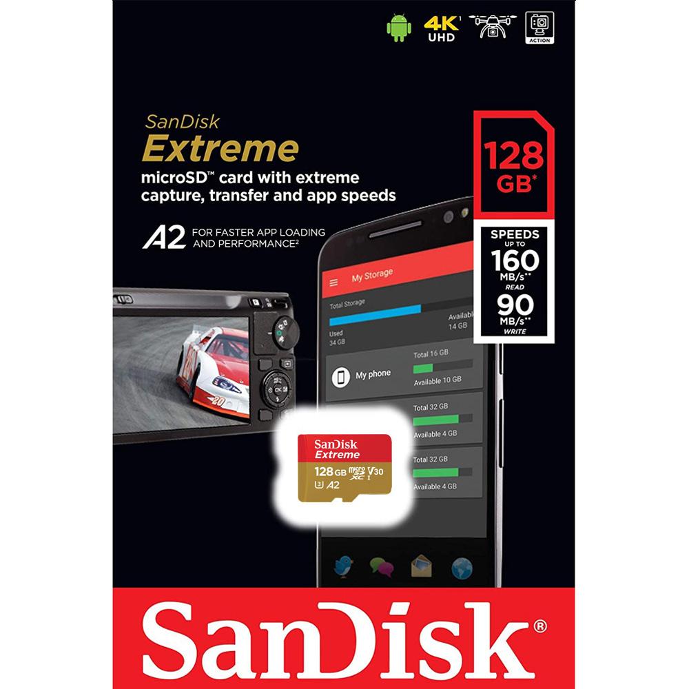 Thẻ Nhớ MicroSDXC SanDisk Extreme V30 A2 128GB 160MB/s SDSQXA1-128G-GN6MN