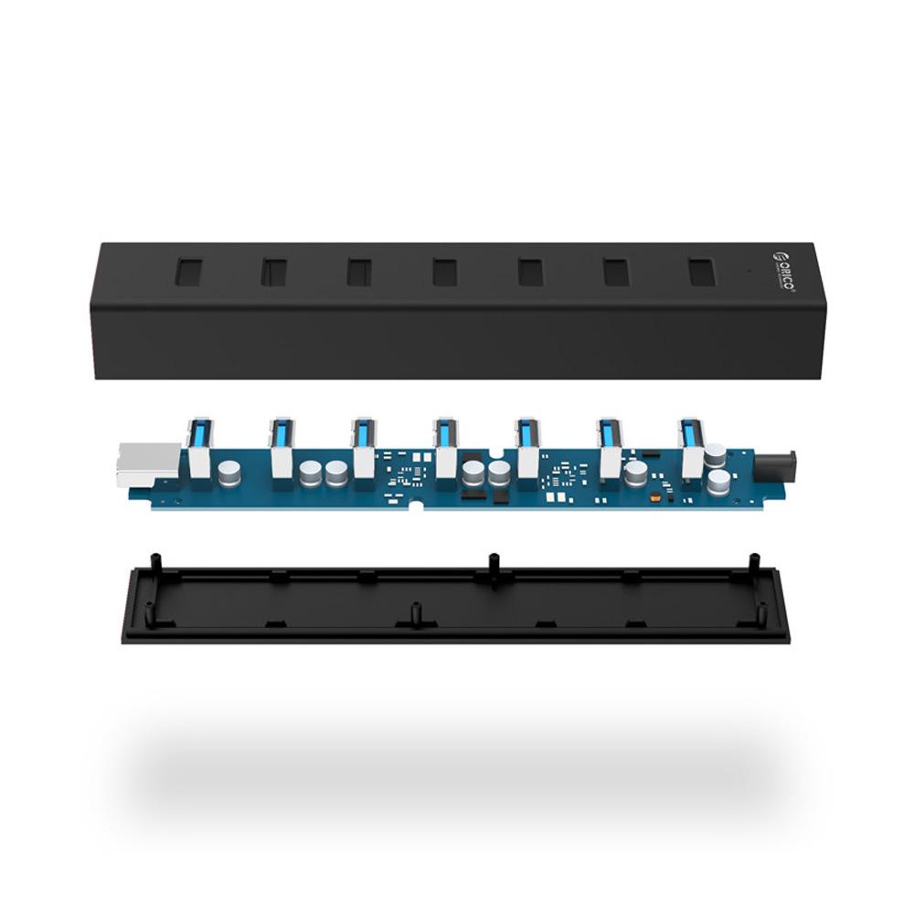 Bộ chia USB 7 cổng USB 3.0 Orico H7013-U3-V1-BK