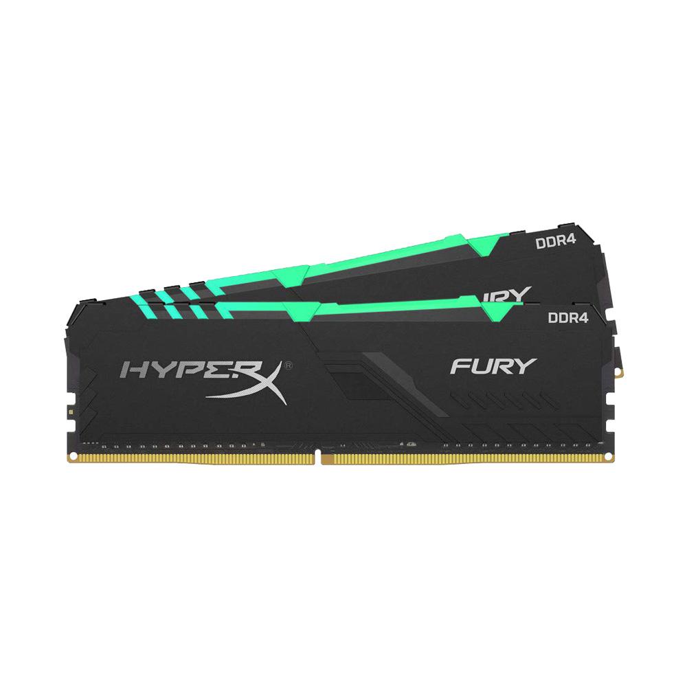 Ram PC Kingston HyperX Fury RGB 32GB 3200MHz DDR4 (2x16GB) HX432C16FB3AK2/32