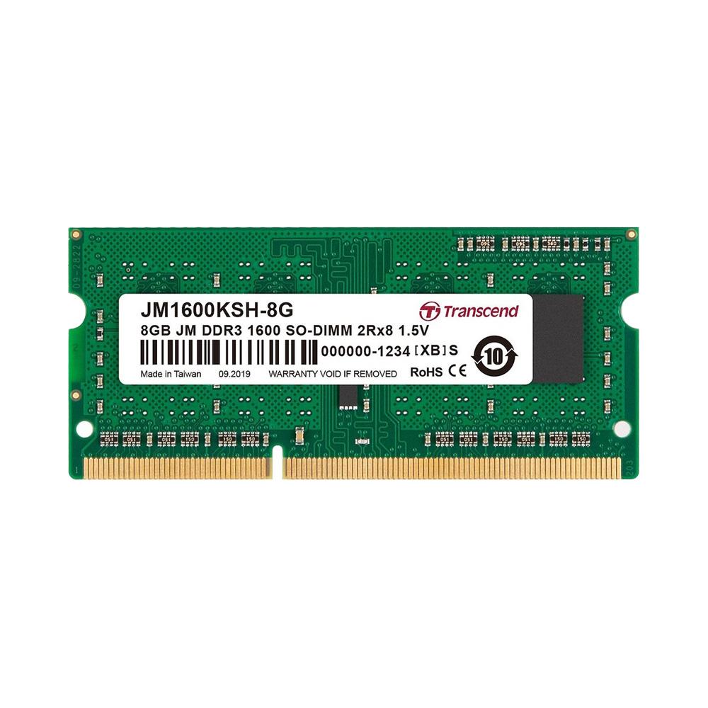 Ram Laptop Transcend 8GB JetRam JM DDR3 1600MHz JM1600KSH-8G
