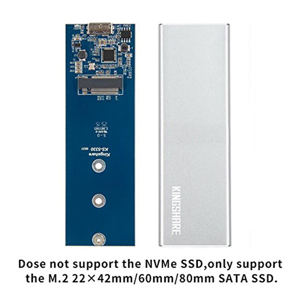 Box SSD M.2 SATA NGFF 2242 2260 2280 to USB 3.0 KingShare KS-AMTU28 Aluminum