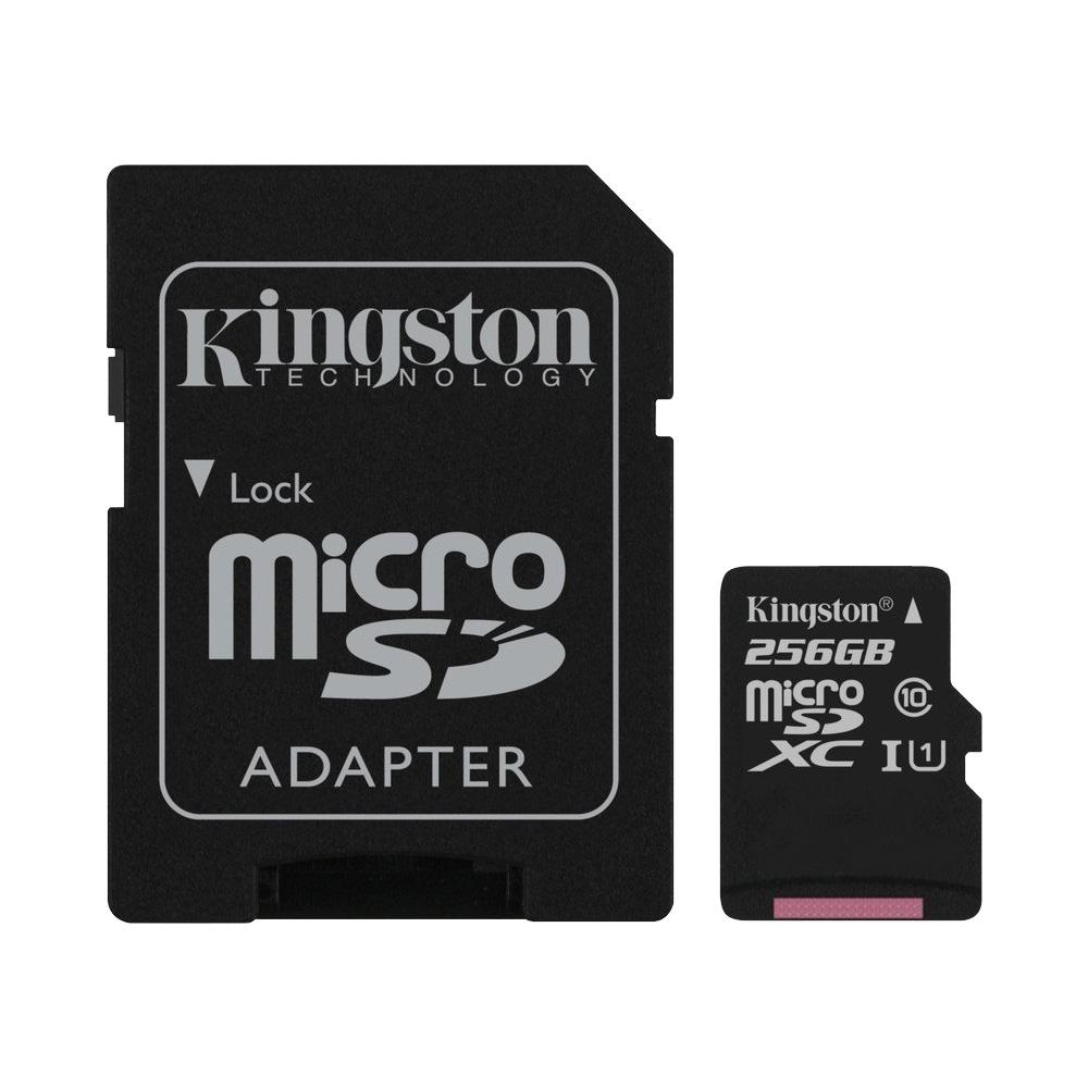 Thẻ Nhớ MicroSDXC Kingston Canvas Select 256GB Class 10 U1 80MB/s SDCS/256GB (Kèm Adapter)