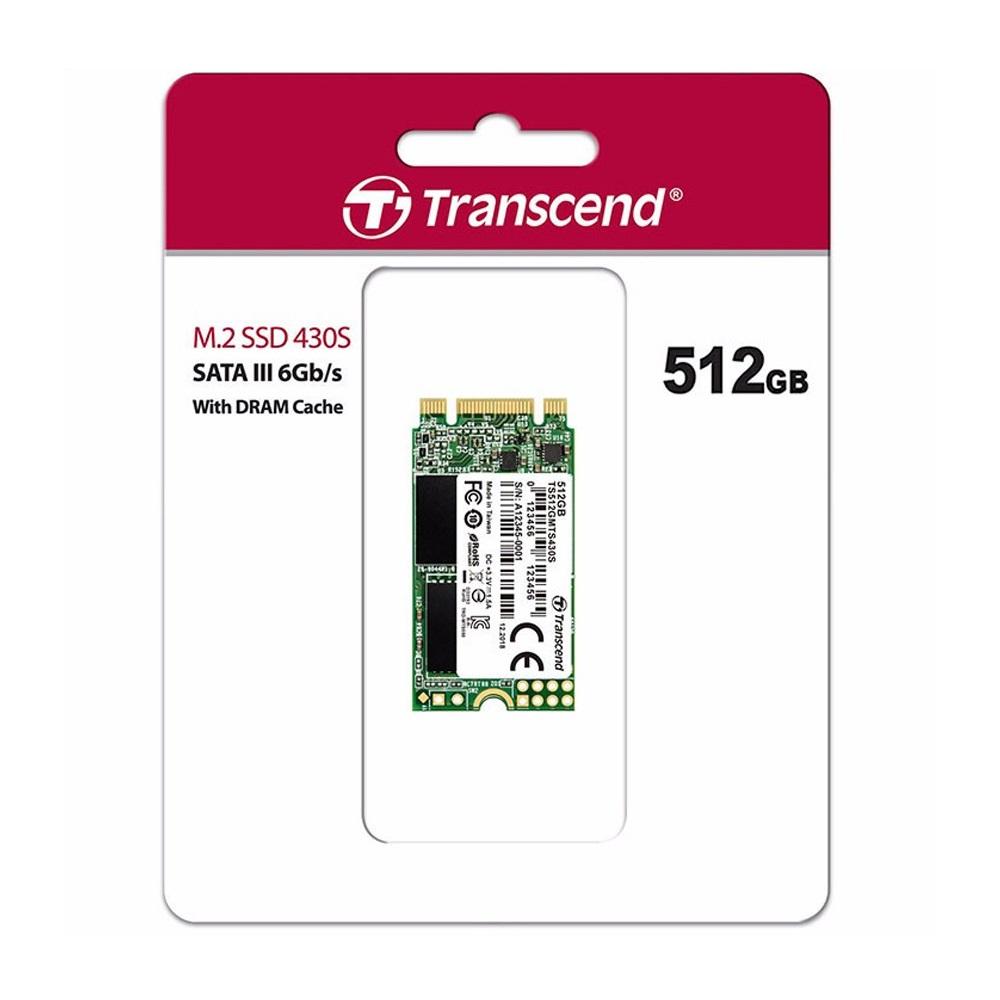 SSD Transcend M.2 2242 SATA III 512GB MTS430S 3D-NAND TS512GMTS430S