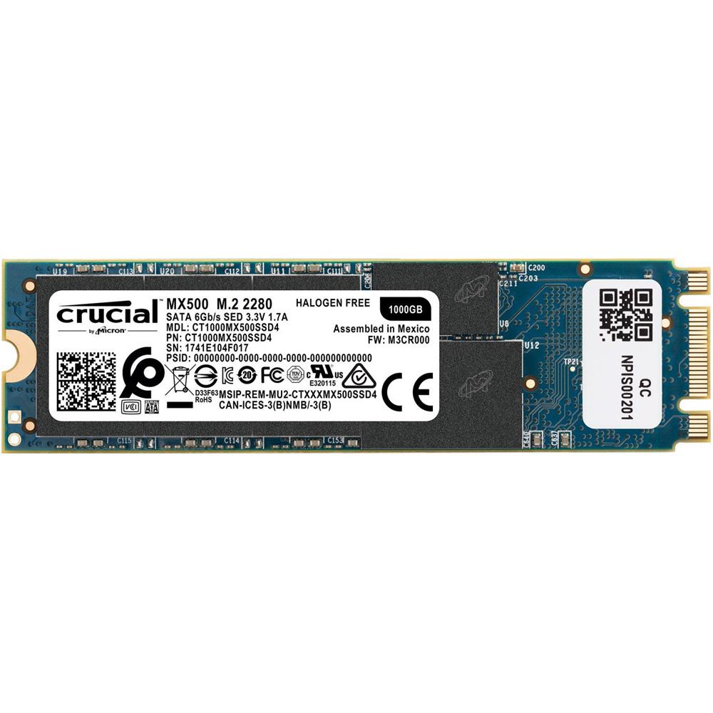 SSD Crucial MX500 3D-NAND M.2 2280 SATA III 1TB CT1000MX500SSD4