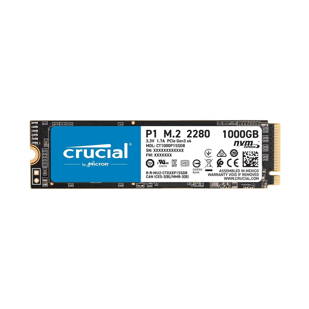 SSD Crucial P1 1TB NVMe 3D-NAND M.2 PCIe Gen3 x4 CT1000P1SSD8