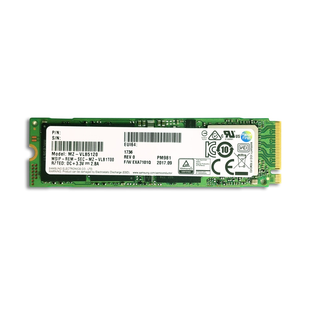 SSD Samsung NVMe PM981 M.2 PCIe Gen3 x4 512GB MZVLB512HAJQ