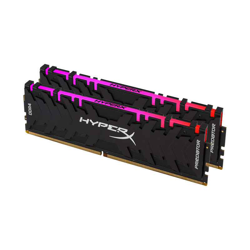 Ram PC Kingston HyperX Predator DDR4 RGB 16GB Bus 3200 Black CL16 XMP (Kit 8GB x 2) HX432C16PB3AK2/16