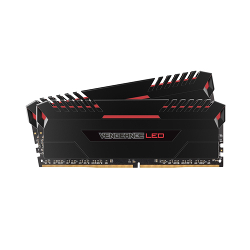 Ram PC Corsair Vengeance 32GB (2x16GB) Bus 3200 DDR4 CL16 Red LED (CMU32GX4M2C3200C16R)