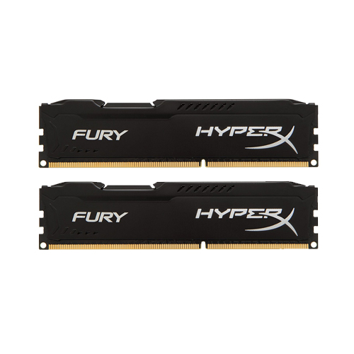 Ram PC Kingston HyperX Fury DDR3 16GB ( 2X8GB) Bus 1600 (HX316C10FBK2/16)