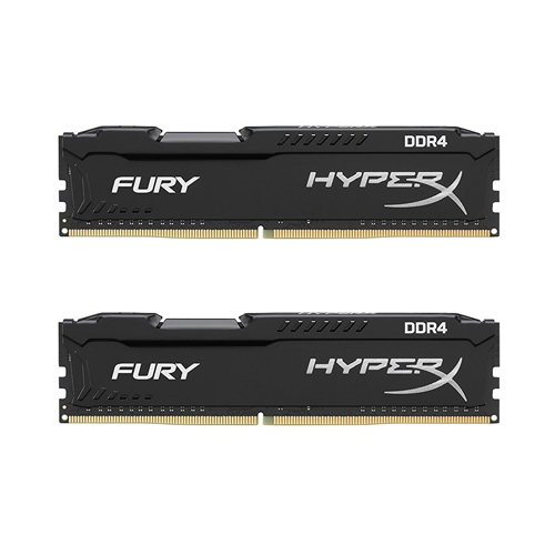 Ram PC Kingston HyperX Fury Black 8GB (2x4GB) Bus 2400 DDR4 CL15 DIMM XMP Non-ECC Kit (HX424C15FBK2/8)