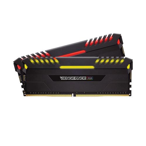 Ram PC Corsair Vengeance  RGB 16GB (2 x 8GB) DDR4 DRAM 3000MHz C15 Memory Kit (CMR16GX4M2C3000C15)
