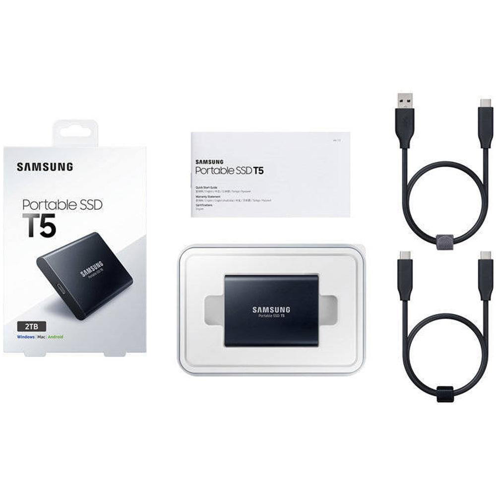 Ổ cứng di động 2TB External SSD Samsung T5 USB 3.1 Gen 2 MU-PA2T0B