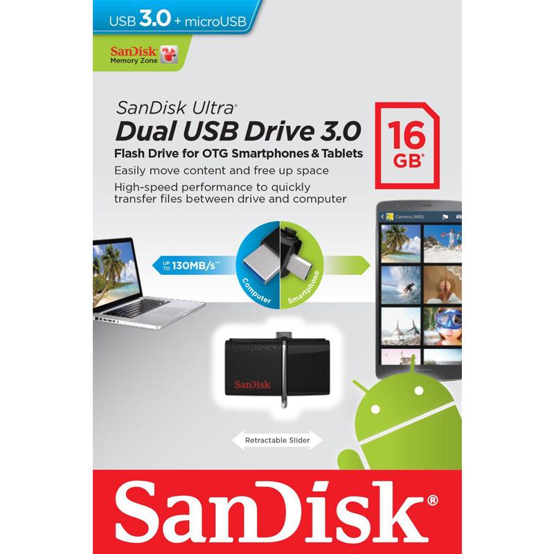 USB 3.0 SanDisk Ultra Dual 16GB 130MB/s