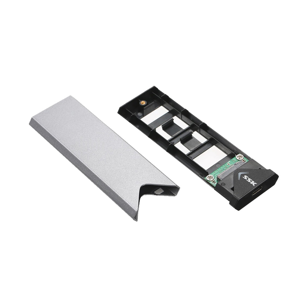 Box SSD M.2 SATA NGFF 2242 2260 2280 to USB Type-C SSK SHE-C320 Aluminum
