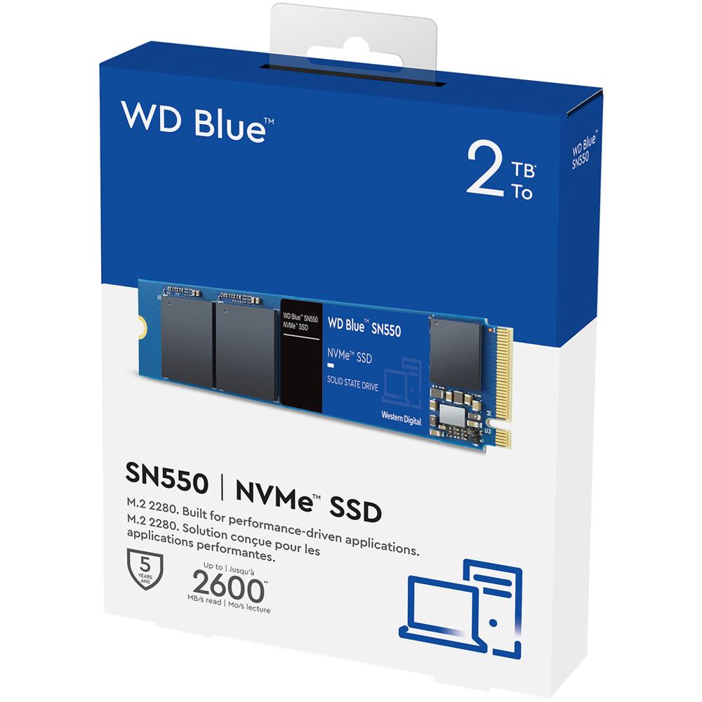 SSD Western Digital Blue SN550 PCIe Gen3 x4 NVMe M.2 2TB WDS200T2B0C