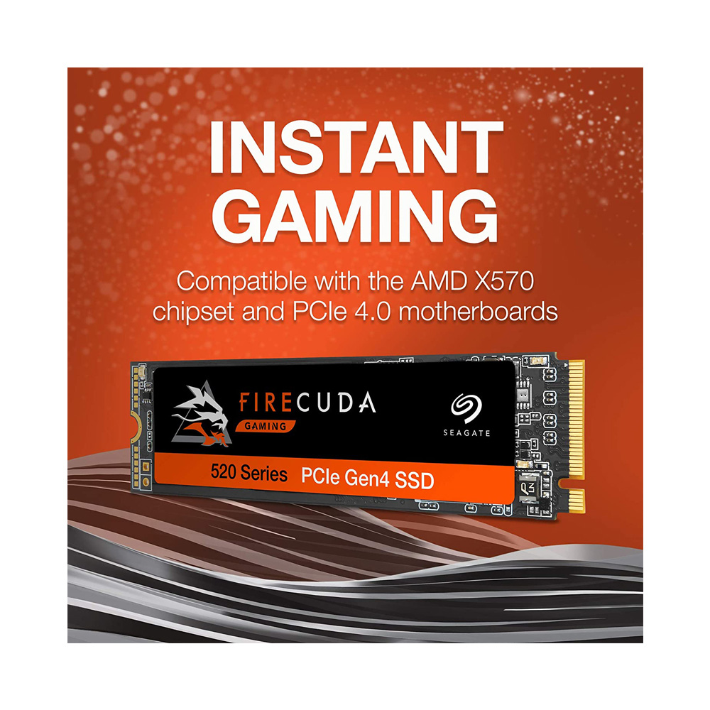 SSD Seagate Firecuda 520 M.2 PCIe Gen4 x4 NVMe 1TB ZP1000GM3A002