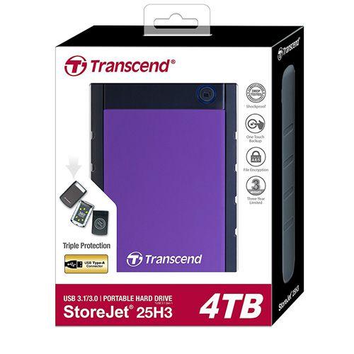 Ổ cứng di động Transcend StoreJet 25H3 2.5 4TB TS4TSJ25H3P