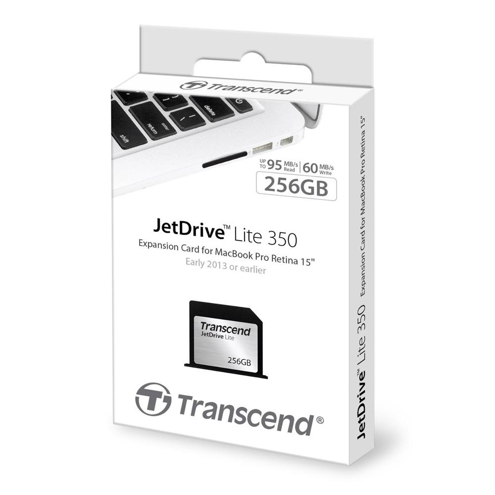 Thẻ mở rộng bộ nhớ Transcend JetDrive Lite 350 256GB cho MacBook Pro Retina 15