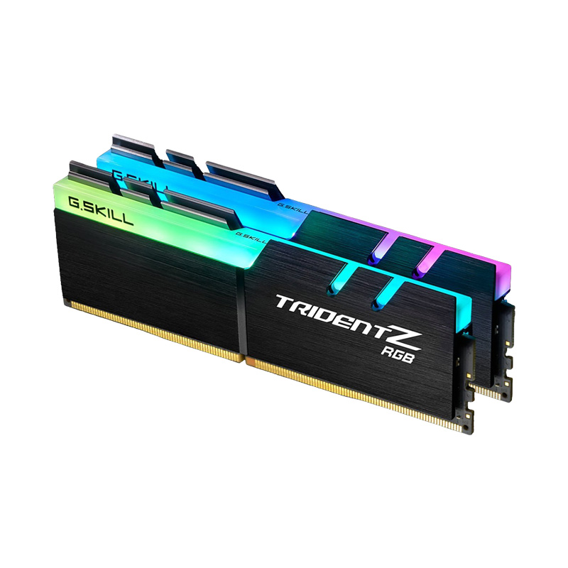 Ram PC G.SKILL Trident Z full length RGB DDR4 32GB Bus 3000 Black CL16 XMP (Kit 16GB x 2) F4-3000C16D-32GTZR