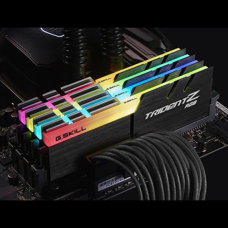 Ram PC G.SKILL Trident Z RGB 16GB 3000MHz DDR4 (8GBx2) F4-3000C15D-16GTZR