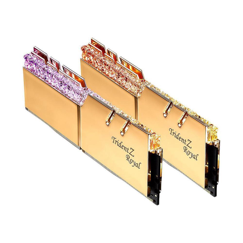 Ram PC G.SKILL Trident Z Royal Gold RGB 16GB 3000MHz DDR4 (8GBx2) F4-3000C16D-16GTRG