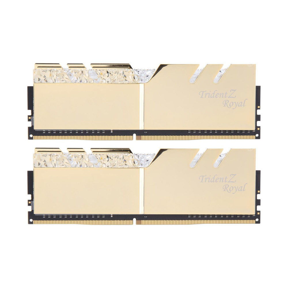 Ram PC G.SKILL Trident Z Royal Series 32GB RGB DDR4 Bus 3000 CL16 XMP Gold (Kit 16GB x 2) F4-3000C16D-32GTRG