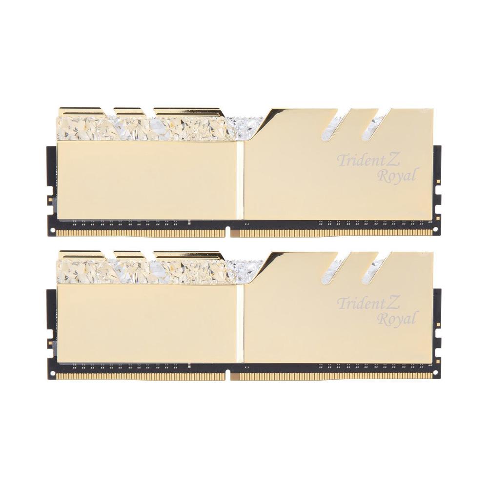 Ram PC G.SKILL Trident Z Royal Gold RGB 32GB 3000MHz DDR4 (16GBx2) F4-3000C16D-32GTRG