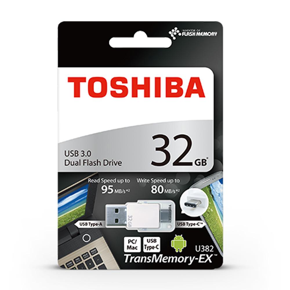 USB OTG 3.0 32GB Toshiba TransMemory-EX U382 Type-C THN-U382W0320E4